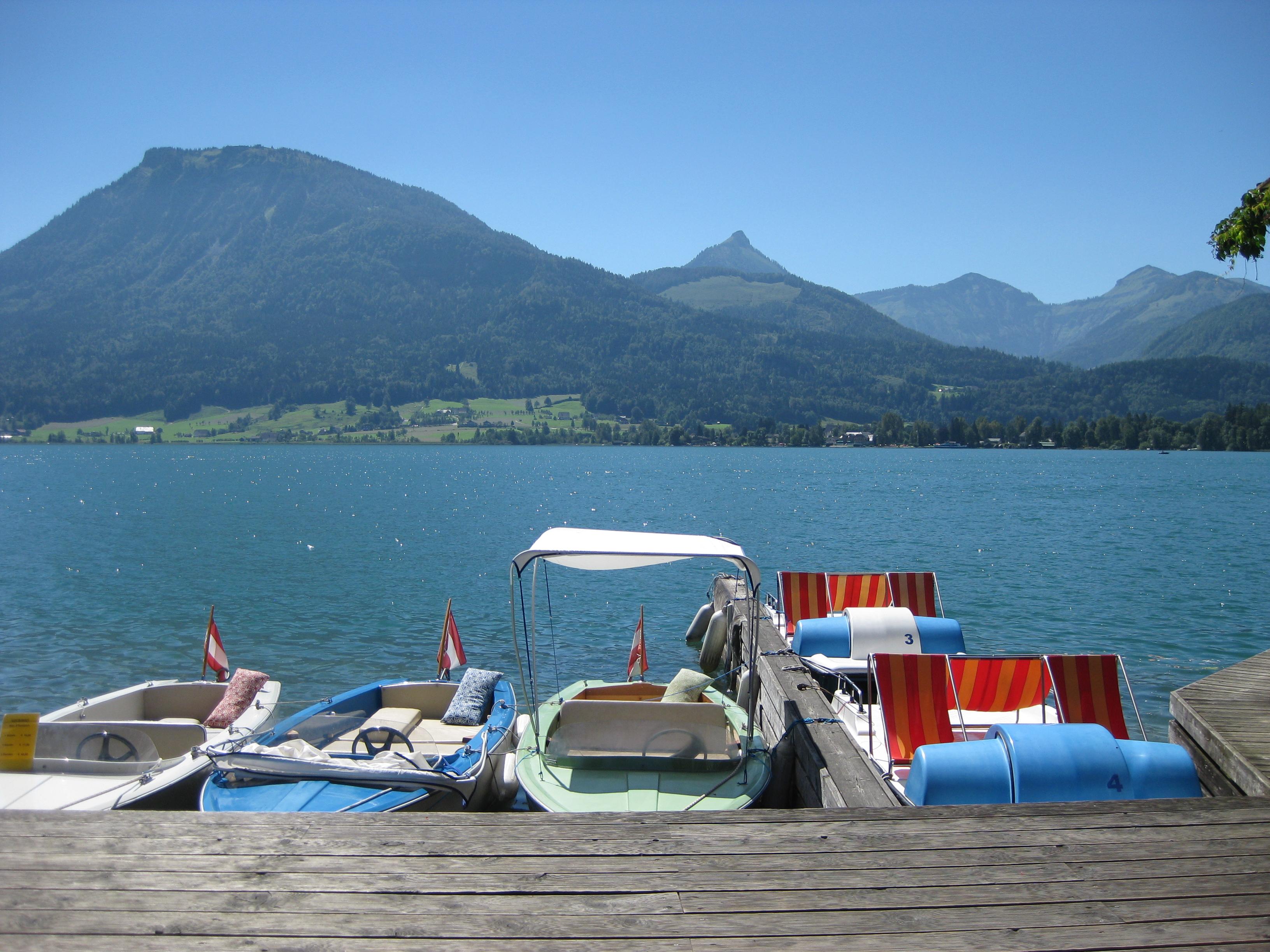 Wolfgangsee mit Booten