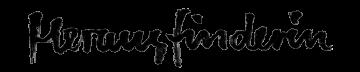herausfindern in hand lettering