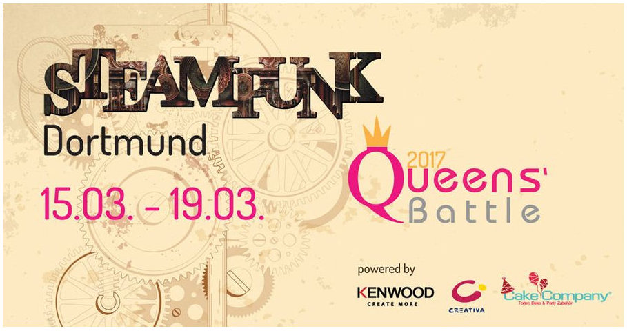 Poster Queens Battle und Steampunkt