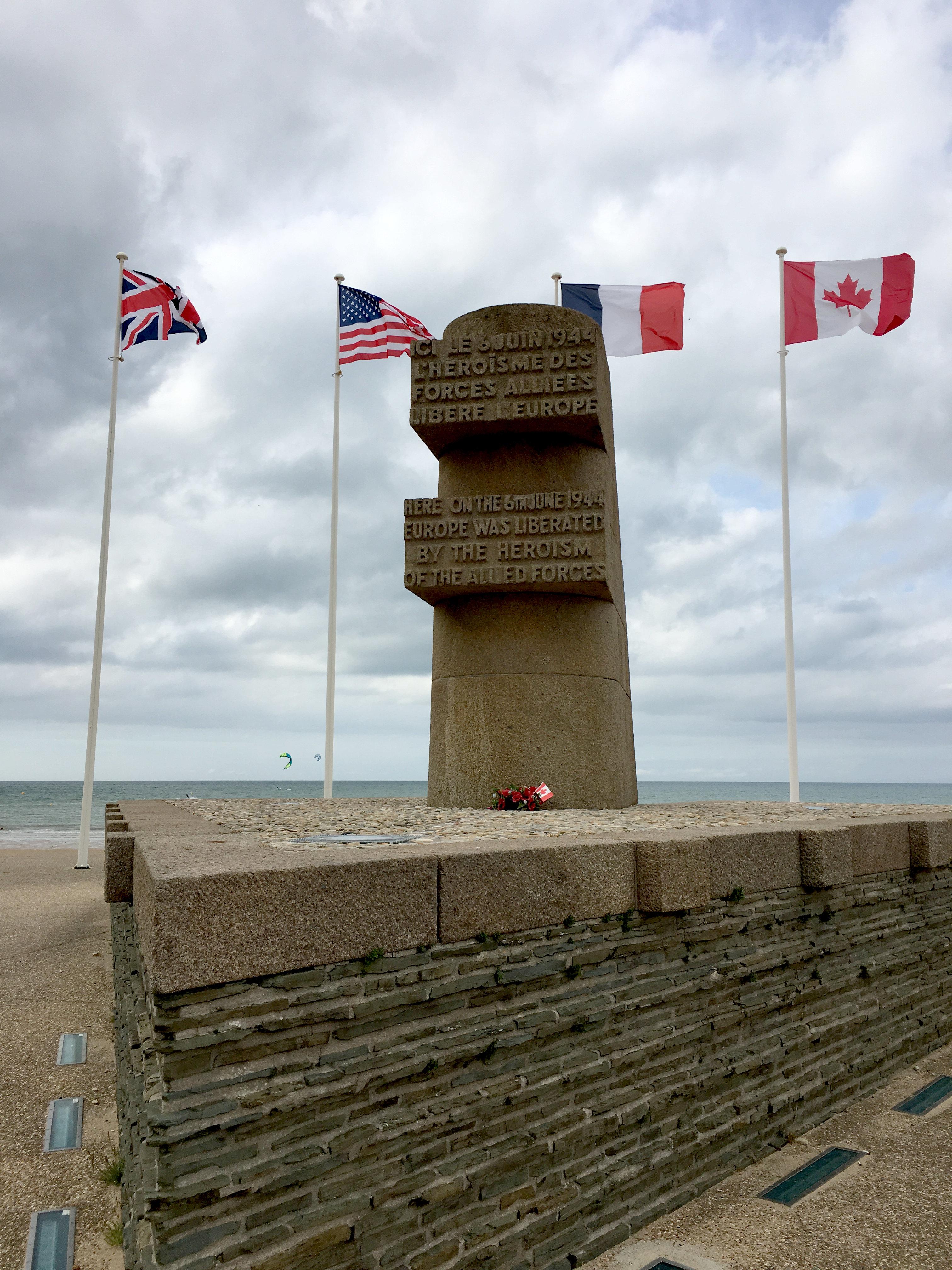 Normandie Denkmal Kanadier
