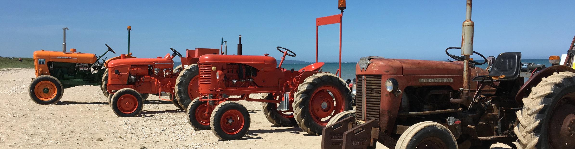 Traktoren am Strand von Ravenoville